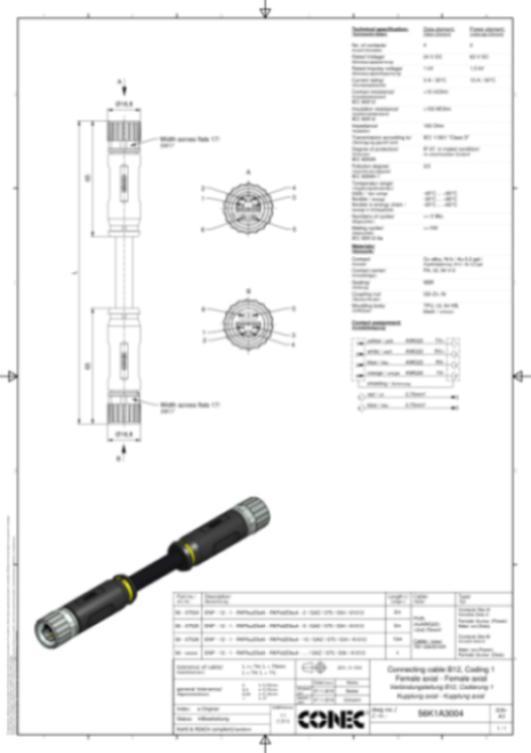 B12 Hybrid Steckverbinder umspritzt - CONEC SuperCon® Hybridsteckverbinder umspritzt Baugröße B12