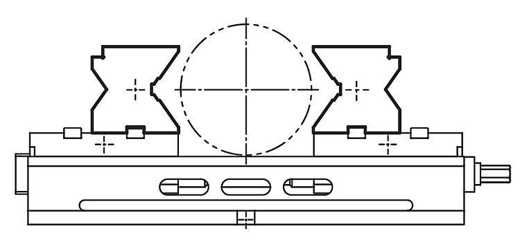 Mors prismatiques - Etau auto-centrant