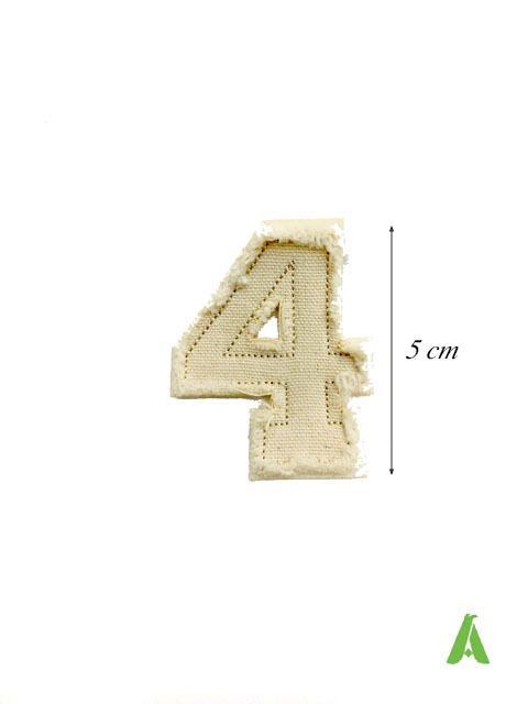 Lettere e numeri Destroyed Sfrangiate - Lettere e numeri Destroyed Sfrangiate da cucire su abbigliamento
