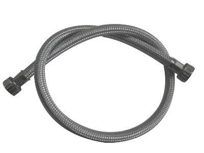 Tubo carico Lav. in treccia inox diritto - Tubi carico e scarico lavastoviglie e lavatrice