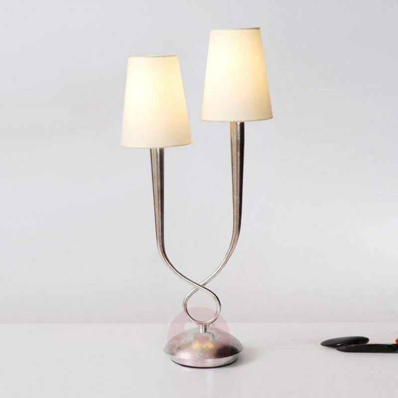 Lustrous table lamp Lorenzo 2-bulb - Window Sill Lights