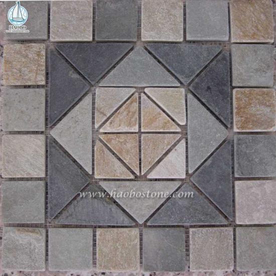 Natural Stone Wall Cladding Stone Mosaic Panel - Construction Stone
