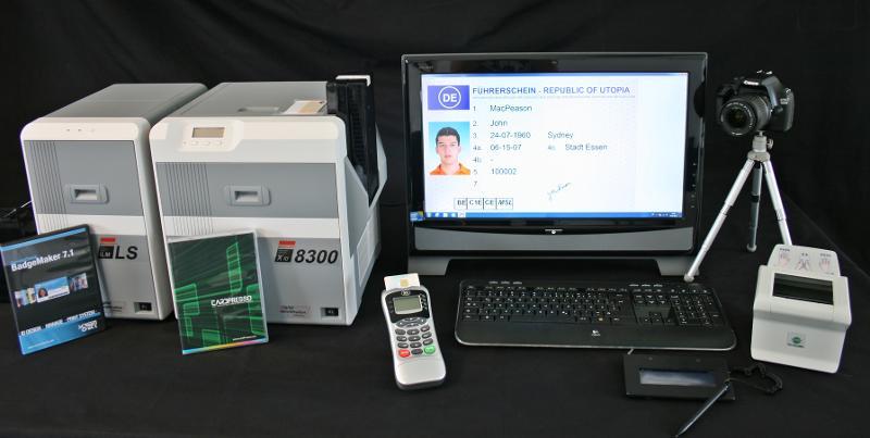 Personsalisierungsanlagen für Ausweis-,Chip- - - und Identifikationskarten