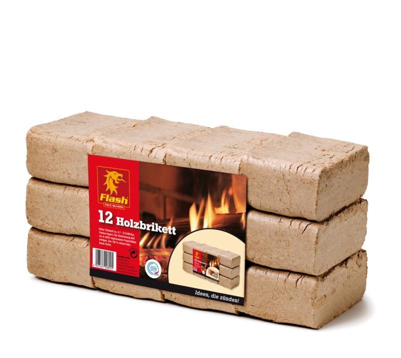FLASH Holzbriketts RUF 12 Stück - null