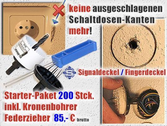 ++ WELTNEUHEIT ++ Unterputz - Elektro - Signaldeckel - Unterputzdeckel / Fingerdeckel für saubere Kanten, kein Kantenbruch mehr