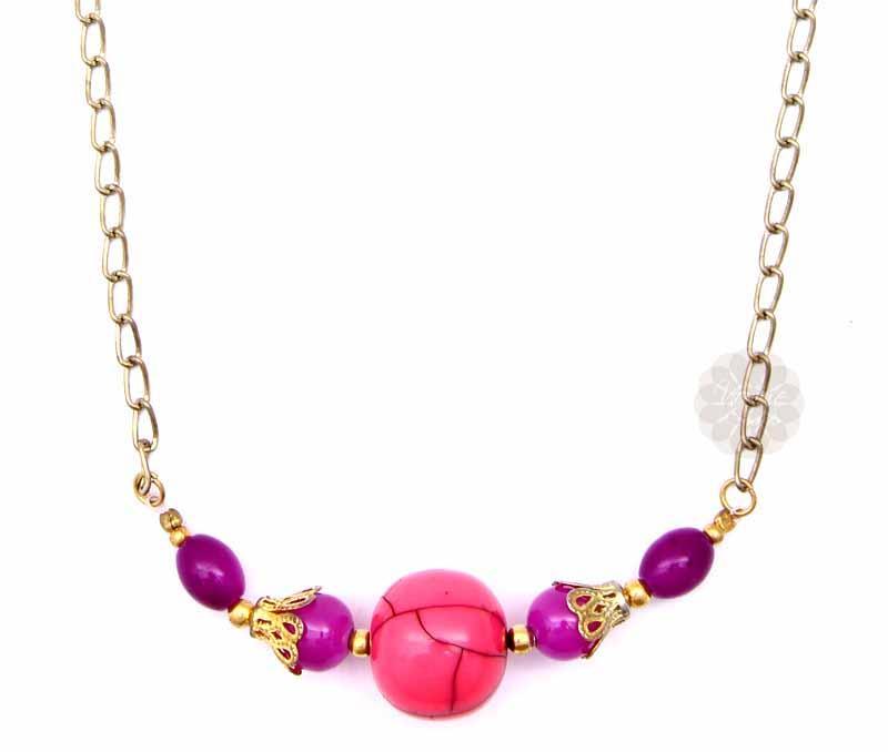 Pretty Pink Bead Pendant -