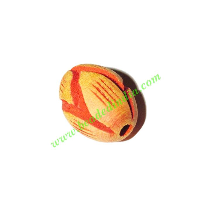 Wooden Carved Beads, size 14x20mm, weight approx 1.47 grams - Wooden Carved Beads, size 14x20mm, weight approx 1.47 grams