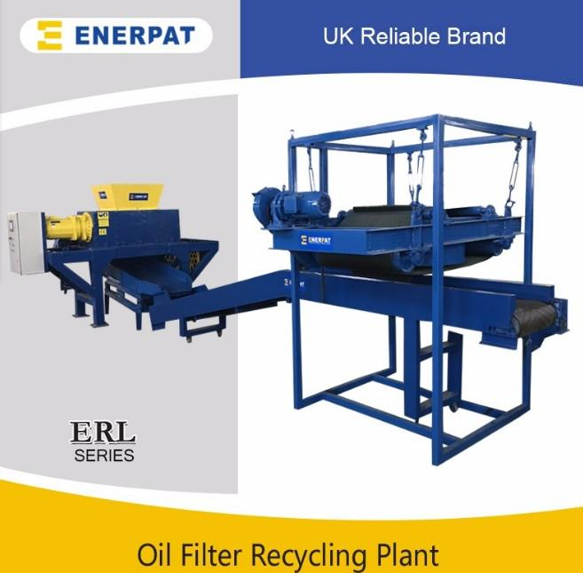 Scrap oil filter shredder machine recycling plant with CE