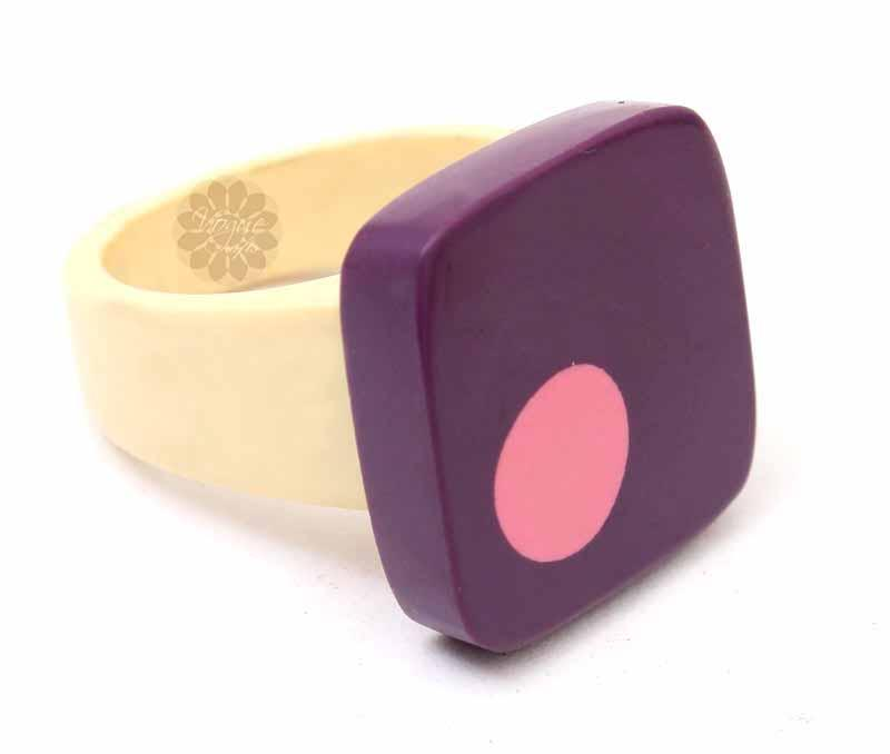 Multicolor Statement Ring -