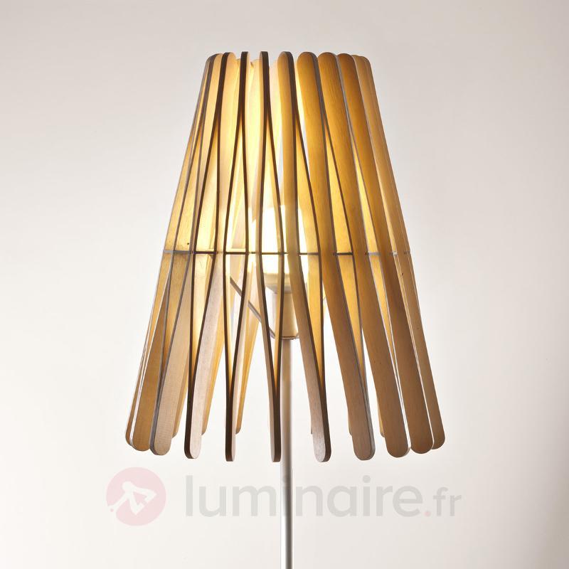 Lampadaire conique Stick en bois - Lampadaires design