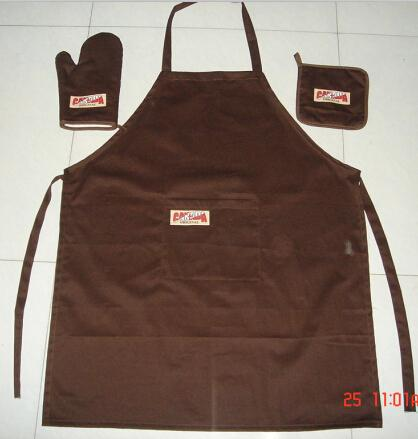 aprons, mittens and pad