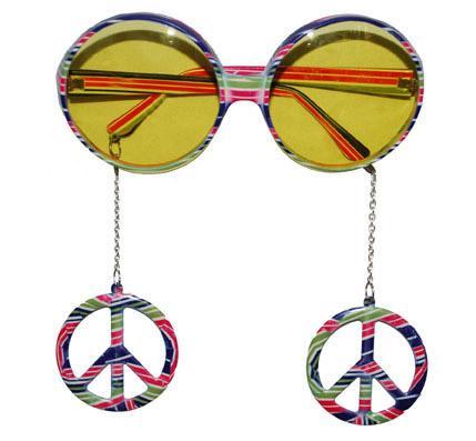 Lunettes peace - Articles de fête et Carnaval