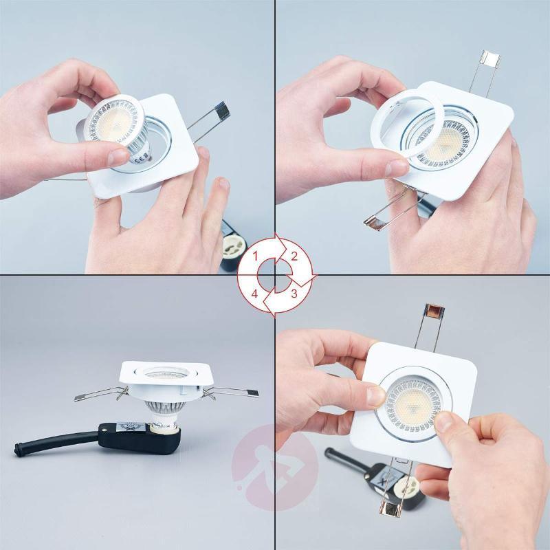 Rectangular LED spotlight Lisara in white - Recessed Spotlights