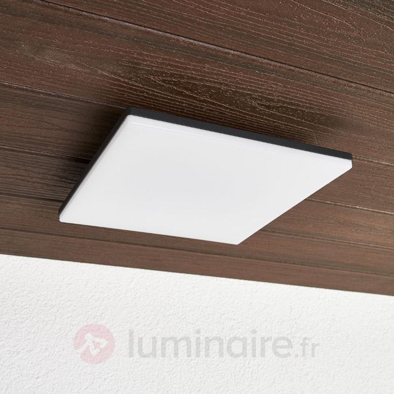 Plafonnier LED carré Henni pour l'extérieur - null