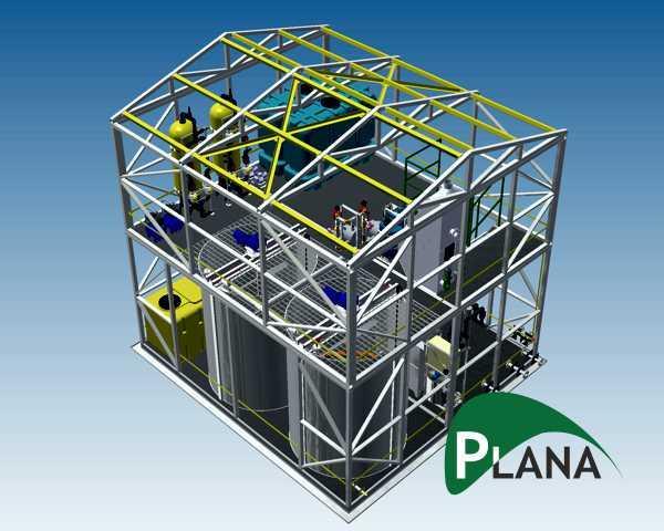 Станции биологической очистки PlanaOS-B-MBBR на подвижной за - Канализационные очистные сооружения PlanaOS-B-МBBR на мобильном носителе биоцено