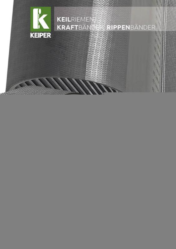 KEIPER neoprene V-belts and power belts - null