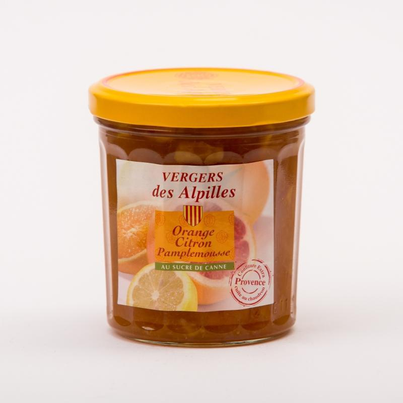 Vergers des Alpilles - Orange / Citron / Pamplemousse - Confitures au sucre de canne