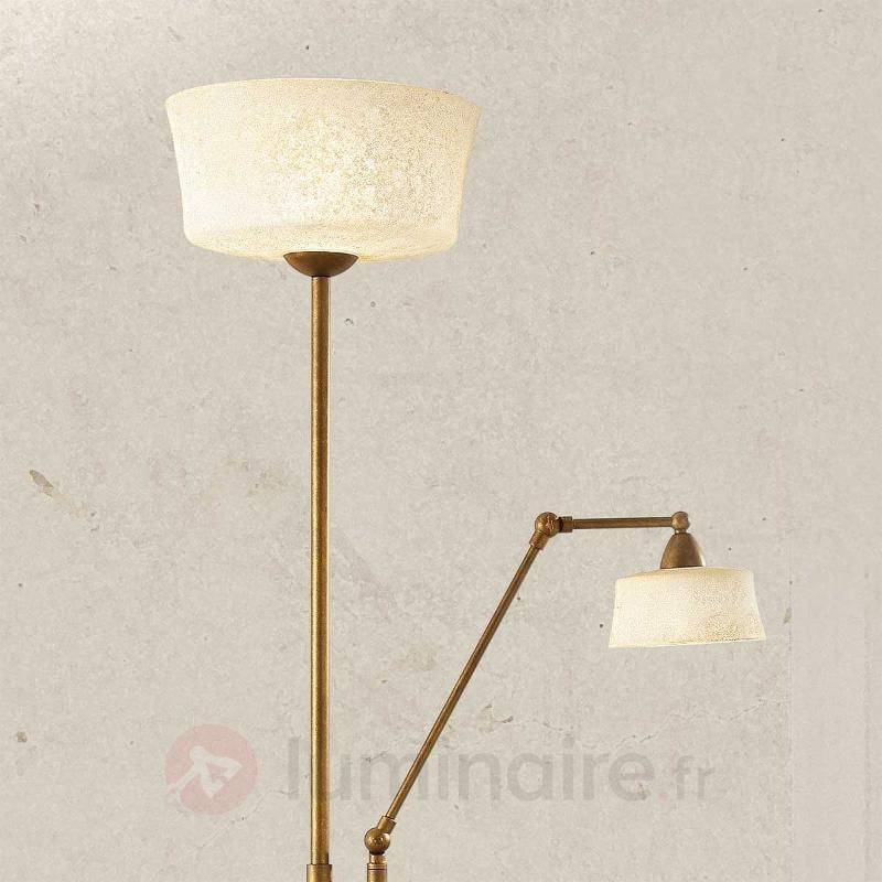 Lampadaire Alessio avec liseuse - Lampadaires à éclairage indirect