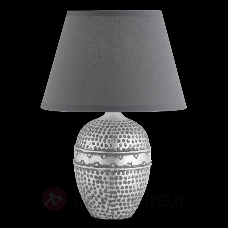Lampe à poser bosselée Essex - Lampes à poser en tissu