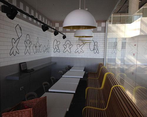 Decorative Cafe & Restaurant Tiles - Custom Printed Tile for Cafe & Restaurant