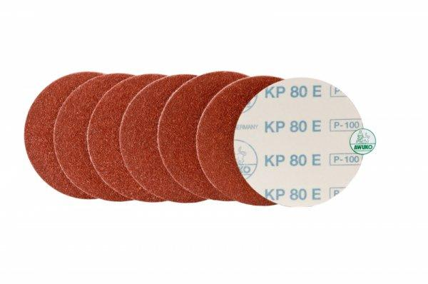 Schleifscheibe für Holz, Lack / Farbe KP80E selbstklebend