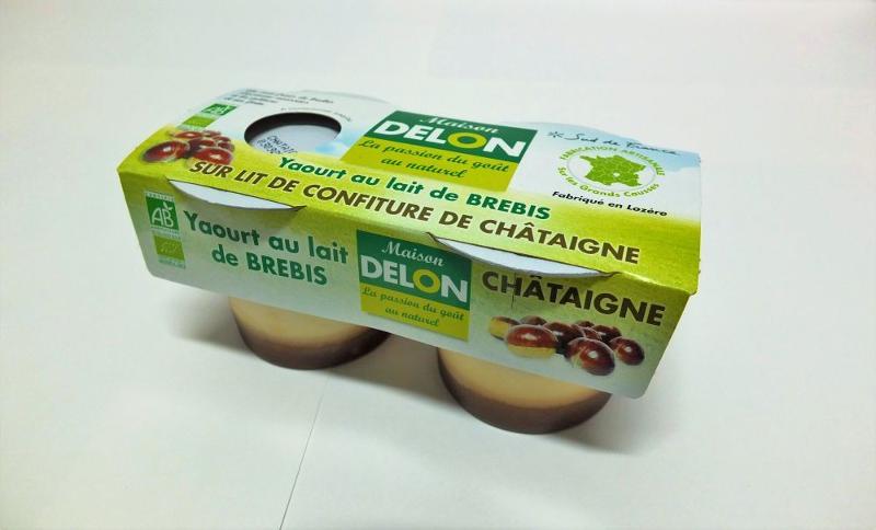 YAOURT AU LAIT DE BREBIS BIO CHÂTAIGNE ( 2 X 100 GRS ) - Produits laitiers