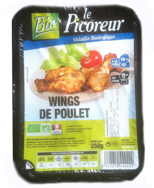 Wings de poulet - Biologiques et surgelés