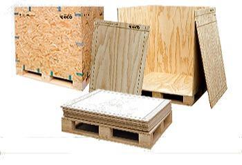 Caja Eco - Caja de madera reutilizable y plegable, apta para el transporte internacional.