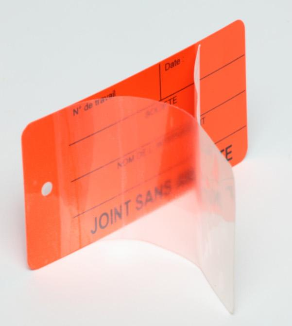 Étiquette PVC/Plastique - Système overlay  -