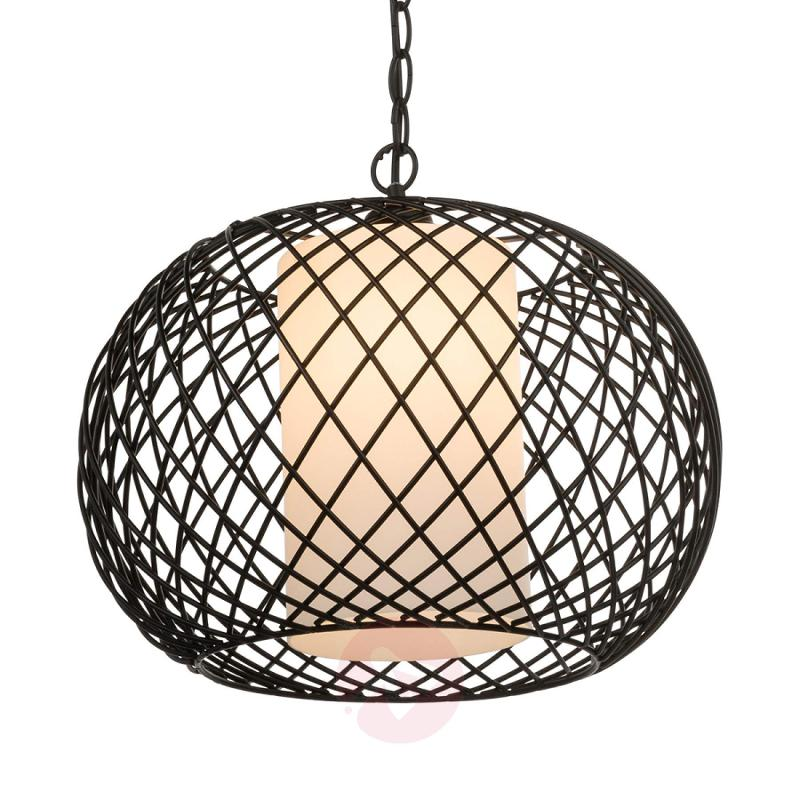 Hanging lamp Rois with a latticework lampshade - indoor-lighting