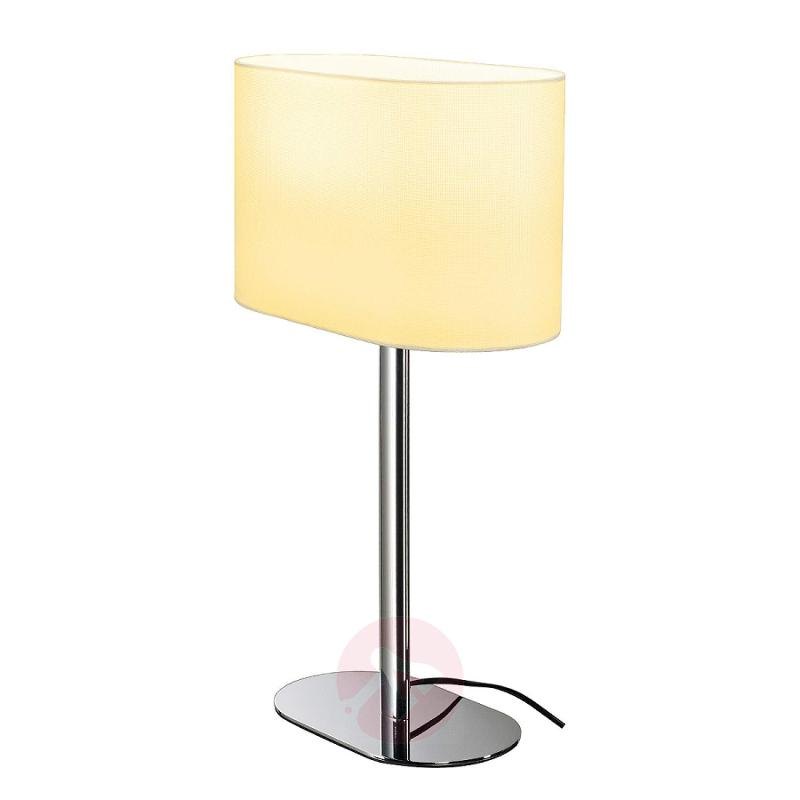 Soprana Oval table lamp in white lampshade - indoor-lighting