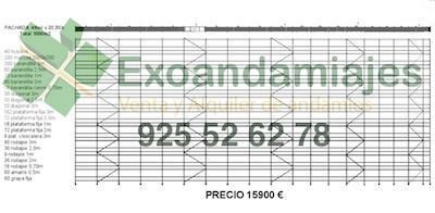 andamio europeo  - Lote de 1000m2 de andamio europeo homologado