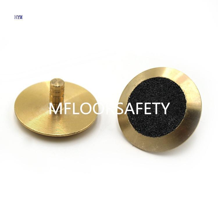 Brass Carbo Infilled Stud - Tactile indicator