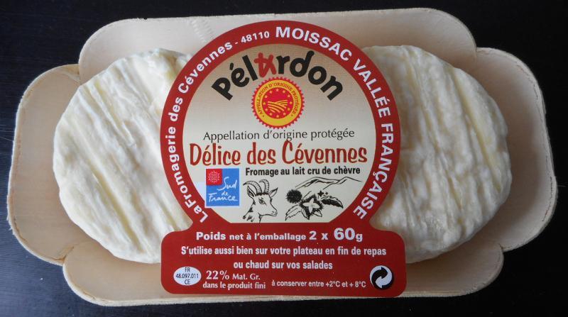 Pélardon AOP 2 x 60 gr sur bois x 8 UVC - Produits laitiers