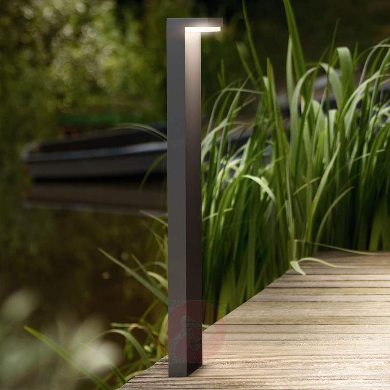 L-shaped LED path light Bustan, aluminium - Path and Bollard Lights