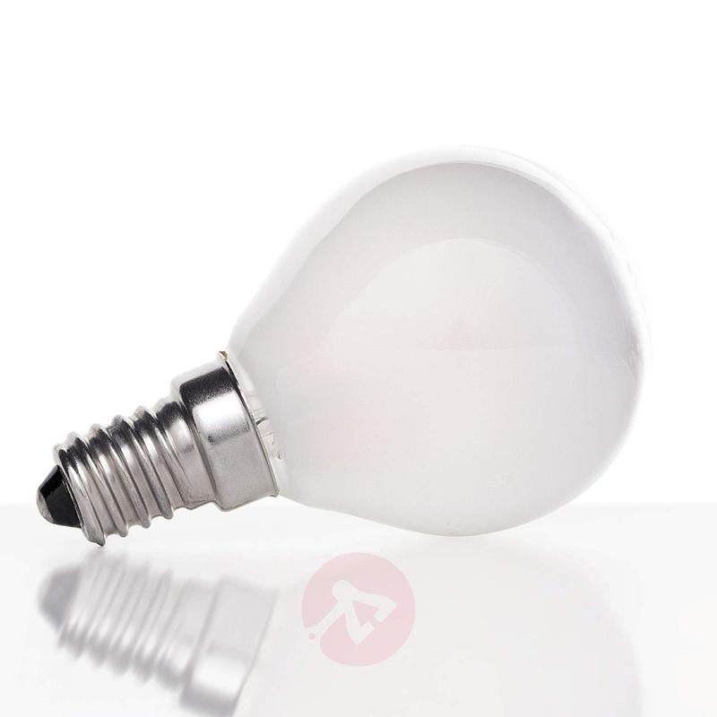E14 4 W 827 LED golf ball bulb, matt on the inside - light-bulbs