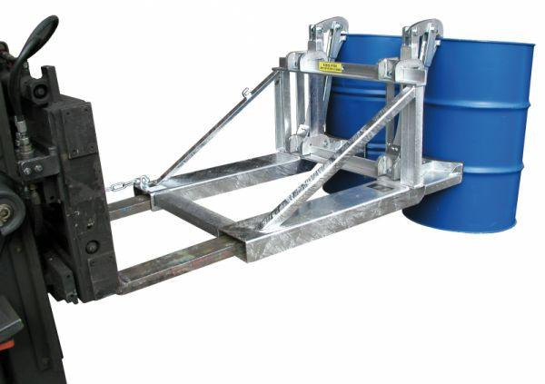 Drum lifter type RS, forklift truck attachment - Safe and fast handling of filled drums