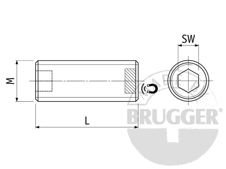 Flat pot magnets NdFeB, with external thread - null