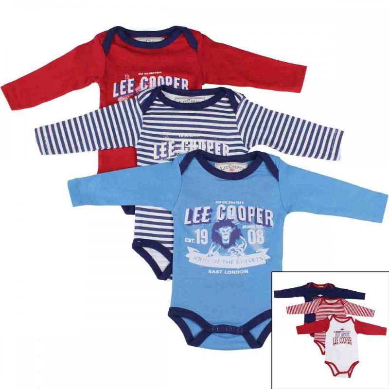 8x Packs de 3 bodys Lee Cooper du 6 au 24 mois - Vêtement hiver