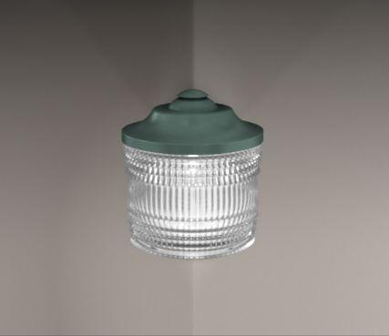 Outdoor corner wall light