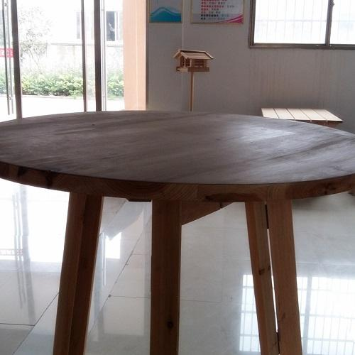 Ultra-thick round table with multi function - Wooden material