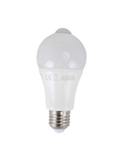 Lampadine LED E27 con sensore IR - 12W opaca 3000/6500K 950/1000lm con sensore di movimento infrarossi