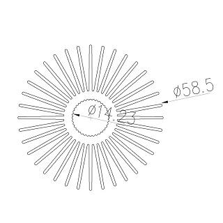 Aluminum radiators - SRX-φ58.5