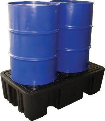 Bac de rétention et caillebotis polyéthylène -... - BRPN 2F Bacs de rétention acier et plastique