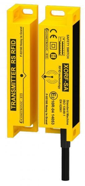 Contrôle la position de sécurité des portes avec codage RFID pour véhicules roul