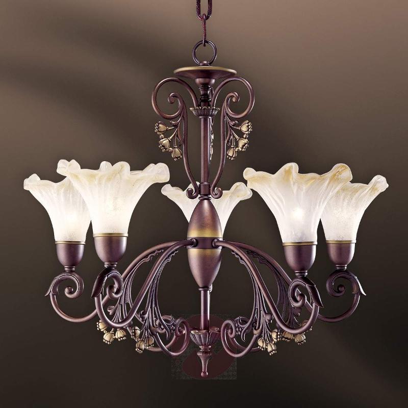 5-bulb chandelier Alba - Chandeliers