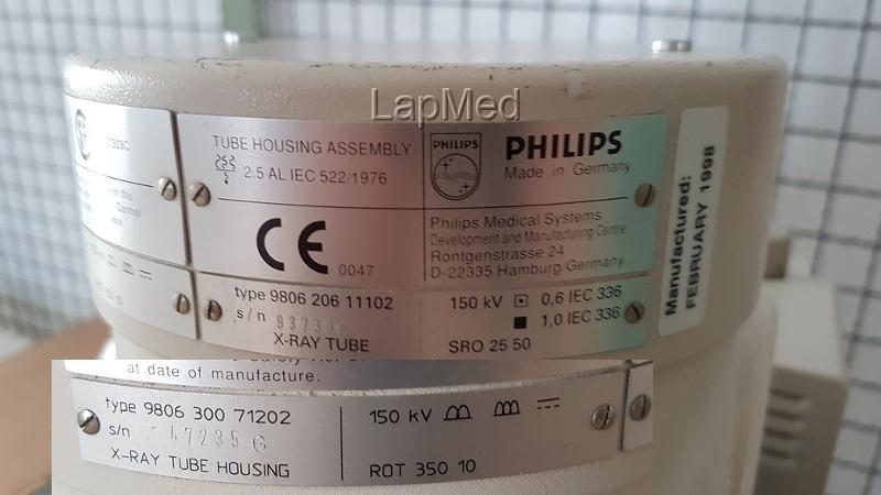 Philips X-Ray Tube Model: 9806 206 11102 SRO 25 50 - Röntgenanlage gebraucht kaufen und Geld sparen