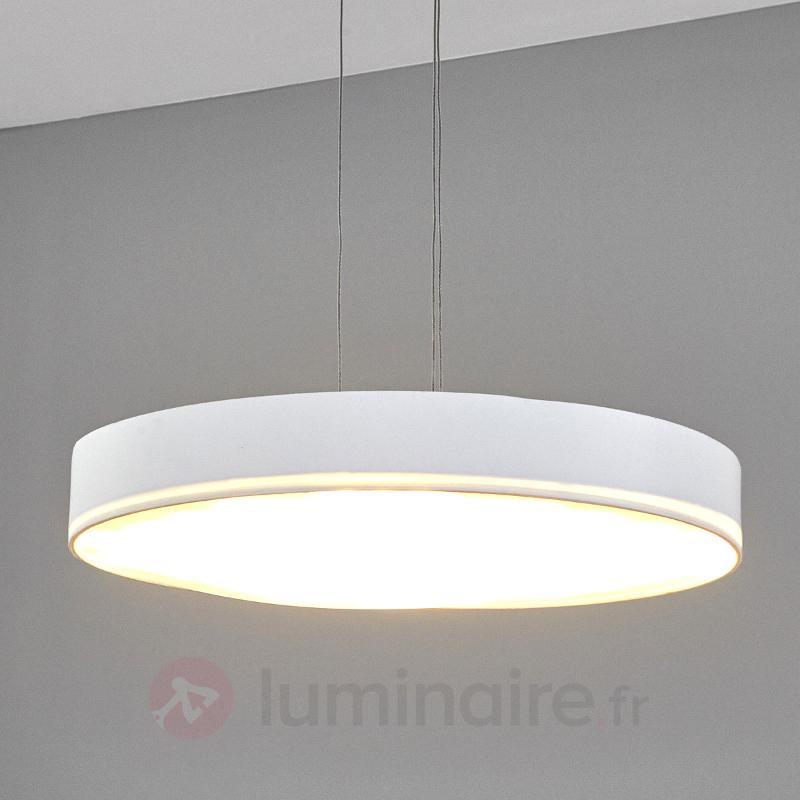 Suspension ronde en textile Tita LED - Suspensions en tissu