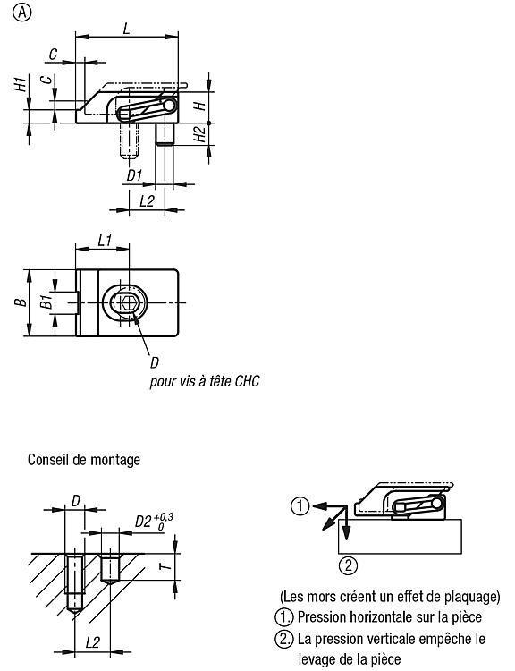 Crampon plaqueur - Crampons, mors de serrage, vis et écrous de serrage