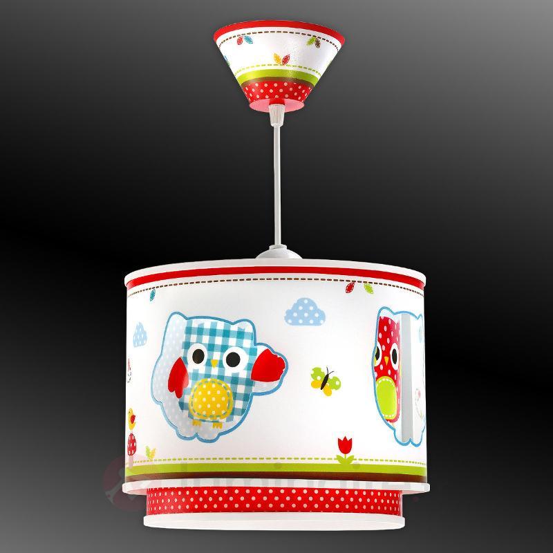 Magnifique suspension Buhos motif chouette - Chambre d'enfant